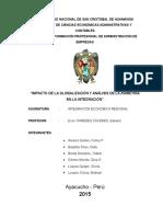 IMPACTO DE LA GLOBALIZACIÓN Y ANÁLISIS DE LA ASIMETRÍA EN LA INTEGRACIÓN