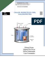 Calor Especifico del calorimetro