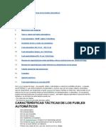 Características Tácticas de Los Fusiles Automáticos