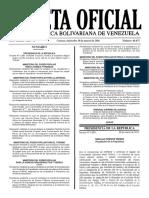 Gaceta Oficial Número 40.875 de la República de Venezuela, 30 de marzo de 2016