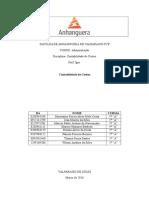 1° e 2° etapa - Contabilidade de Custos