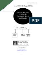 Edexcel as Biology 6BI01