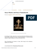 Surya Mantra and Surya Namaskaram