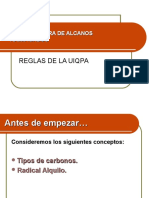 ALCANOS RAMIFICADOS