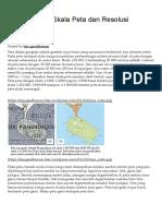 Kesepadanan Skala Peta Dan Resolusi Spasial Citra