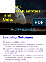 As Chapter 1 Physical Quantities and Units