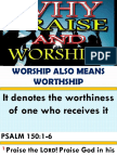 Why Praise and Worship Edited