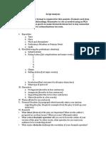 Script Analysis Outline