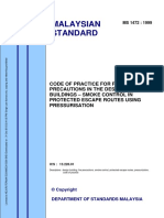 Smoke Control in Protected Escape Routes Using Pressurisation (MS 1472-1999)