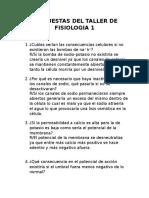 Respuestas Del Taller de Fisiologia 1