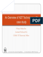 Overview of NDT Techniques With Case Study