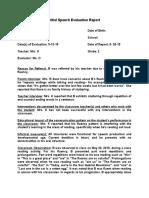 b fluency evaluation report