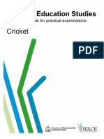 cricket practical exam support booklet pdf