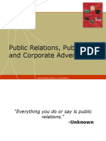 public relations,publicity and advertising