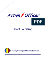 Action Officer StaffWriting