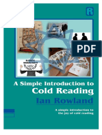 A Simple Introduction to Cold Reading