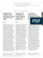 Comparación de Dos Metodologias Para La Determinación de Residuos de Plaguicidas en Agua Potable