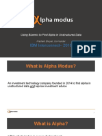 Using Bluemix to Find Alpha in Unstructured Data
