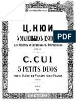 Cesar Cui Op.56 Petits Duos for flute, violin and piano