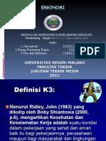 Presentasi K3LH - Ergonomis