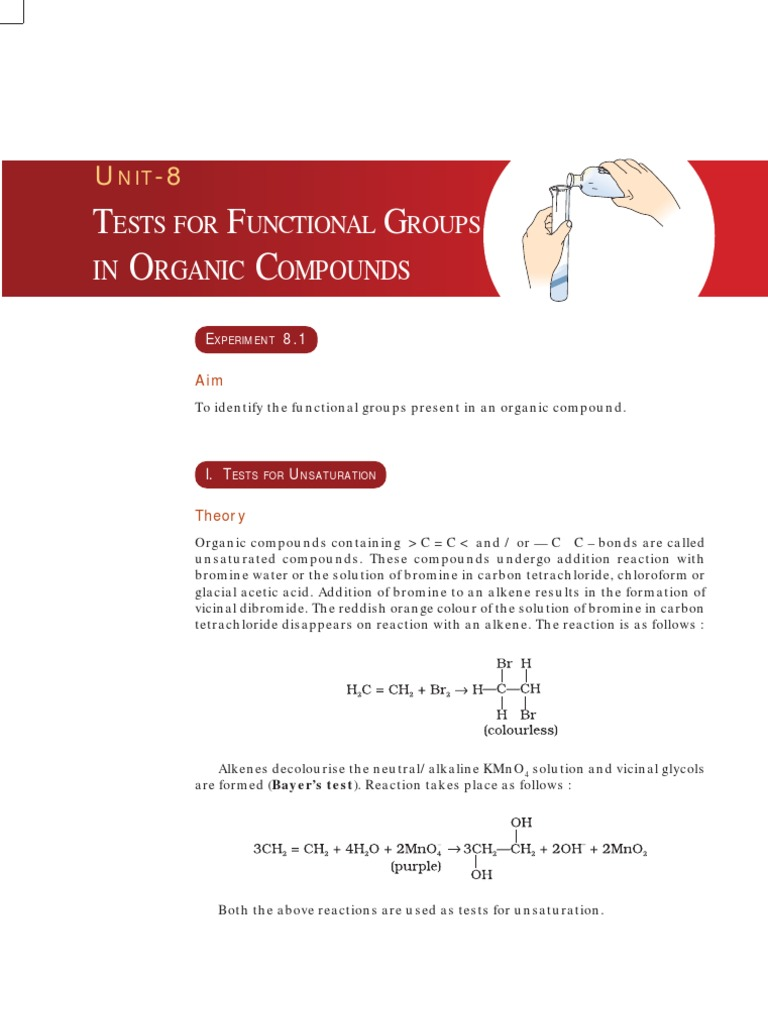 preliminary tests of organic compounds Qualitative organic analysis: an efficient, safer, and economical approach to preliminary tests and functional group analysis.
