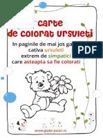Carte Colorat Ursuleti