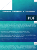 Fixed Asset Management in ERP Solution
