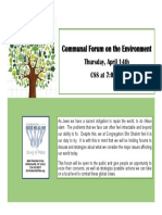 Communal Forum on the Environment