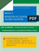 Módulo III - Presentación - Rendición de cuentas y calidad educativa