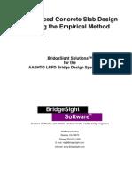 Empirical Slab Design