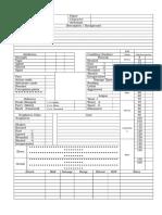 Farian Character Sheet Front