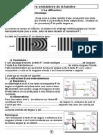 Cours Physique Nature Ondulatoire de La Lumiere (Sciences2016) (Eleve1)