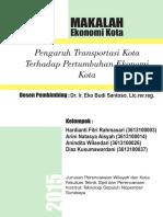 Pengaruh Transportasi Kota Terhadap Pertumbuhan Ekonomi