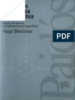 Bleichmar, Hugo - Avances en Psicoterapia Psicoanalítica