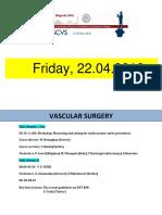 Escvs full Program for Vacular session