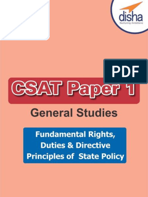 CSAT Paper 1 General Studies: Fundamental rights & Duties