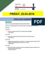 Escvs Program for Vascular session on 22.04.2016