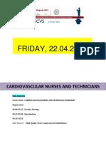 program for cardiovascular nurces and technicians