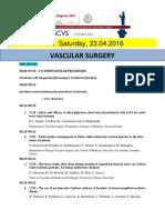 Escvs Program for Vascular session on 23.04.2016