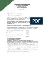 Gestão Financeira II-Aula Prática 7