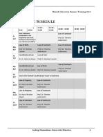 MUST 2016 Schedule