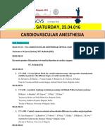 Escvs Program for Cardiovascular Anesthesia
