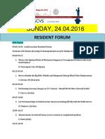 ESCVS Resident forum on 24.04.2016