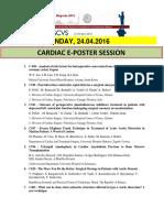 Escvs Program for CARDIAC E-POSTER session on 24.04.2016