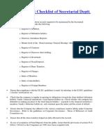 Secretarial Audit Checklist