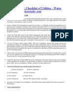 Utilities Audit Checklist