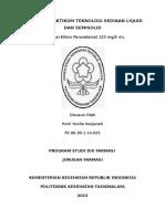 laporan eliksir paracetamol