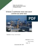 Estimarea si cuantificarea riscului uman asociat activitatii unui santier naval
