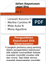 Pengambilan Keputusan Legal Etis Edit Ppt