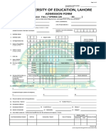 UE Examination Admission Form